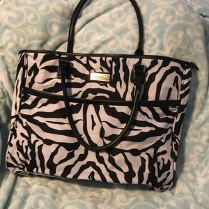 Ellen Tracy Zebra Travel Bag